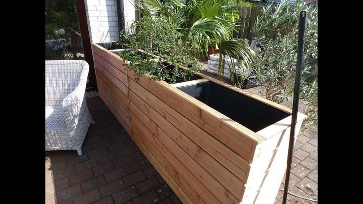 Raised Bed As A Windbreak Or Privacy For Terrace And