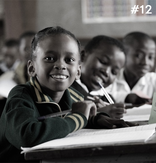 DIAMOND FACT 12 Diamond revenues enable every child in Botswana to receive free education up to the age of 13.