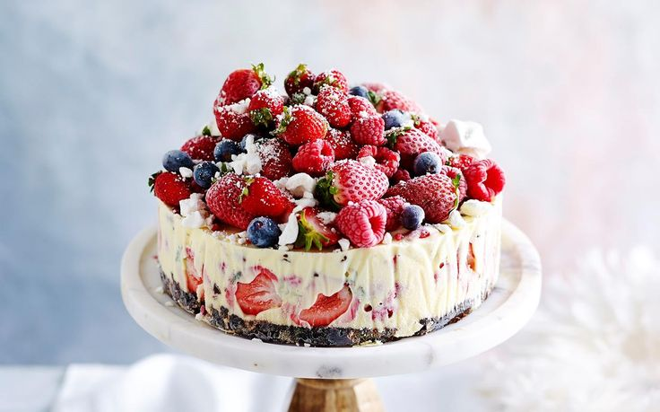 The-night-before frozen Christmas ice-cream cake recipe - By Australian Women's Weekly, This night-before frozen Christmas ice-cream cake is quick and delicious, and will have your guests coming back for more!