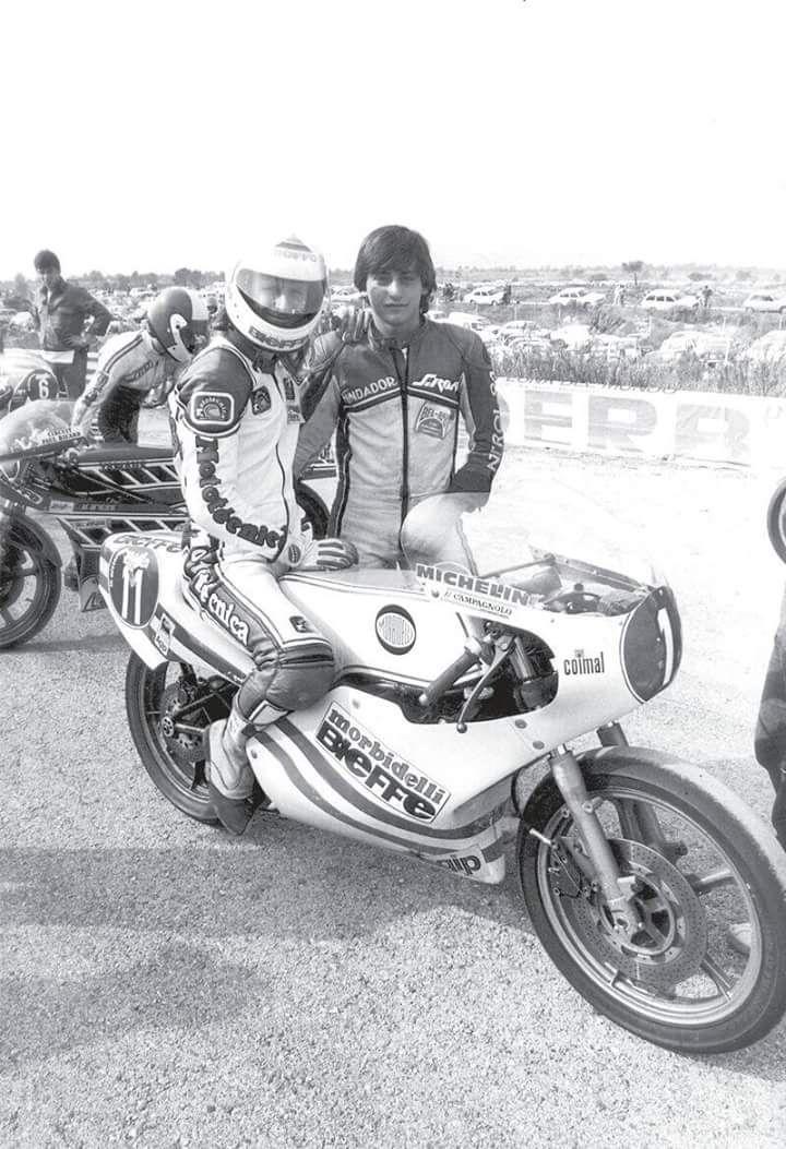 Sito Pons and Graciano Rossi, father of Valentino Rossi