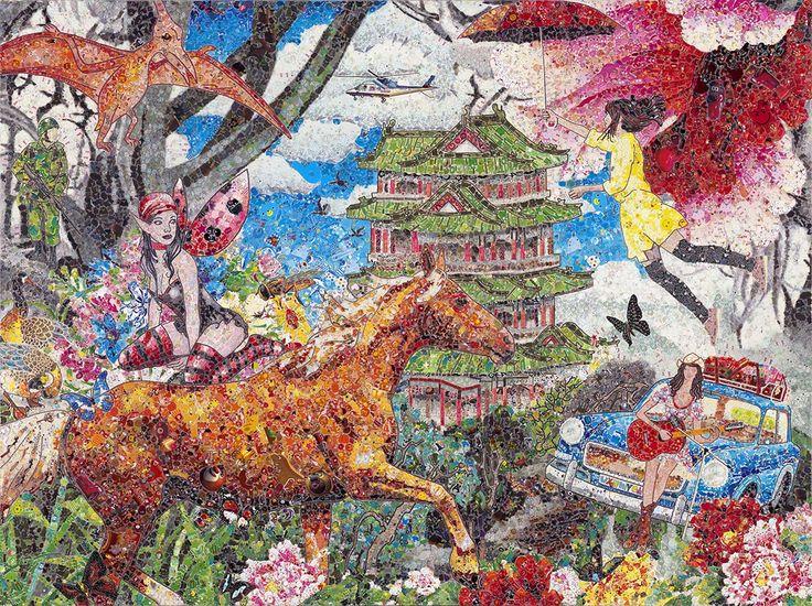 Ye Hongxing 叶红杏, Overlap No. 23 重叠23, Mixed media on canvas 布面综合材料, 150x200cm, 2014