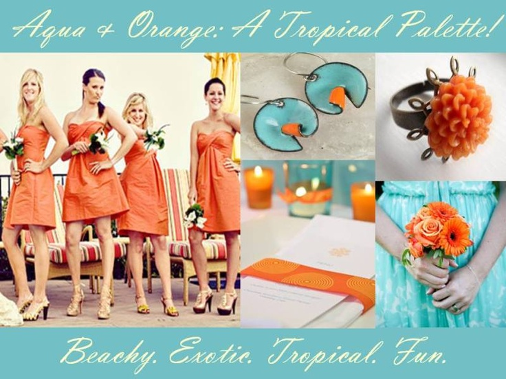 The Perfect Palette Aqua Orange White ADD Earl Grey Find This Pin And More On Beach Wedding Color