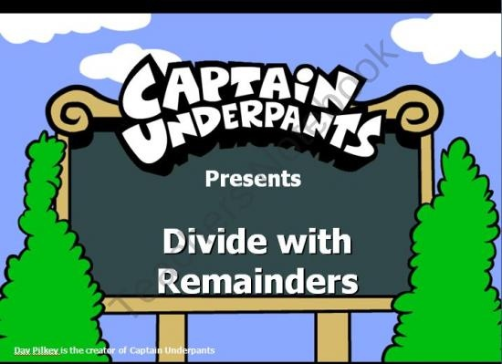 4313aa911ebf0c0aa27c7df63498e0d5--captain-underpants-th-grade-math Teaching Division With Remainders Worksheets on factoring worksheets, basic math problems worksheets, addition worksheets, rounding numbers worksheets, 3rd grade math worksheets, division with decimals worksheets, ged math practice worksheets, estimation worksheets, division as repeated subtraction worksheet, partial quotients worksheets, multiplication worksheets, geometric solids worksheets, division without remainders, multiply by 3 worksheets, common core printable worksheets, 8th grade math problems worksheets, division worksheets with examples, math equal groups worksheets, solving linear equations worksheets, division with repeated subtraction,