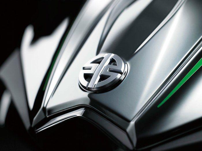 Love the logo on the Kawasaki Heavy Industries motorcycle!