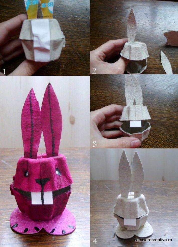 Egg carton rabbit