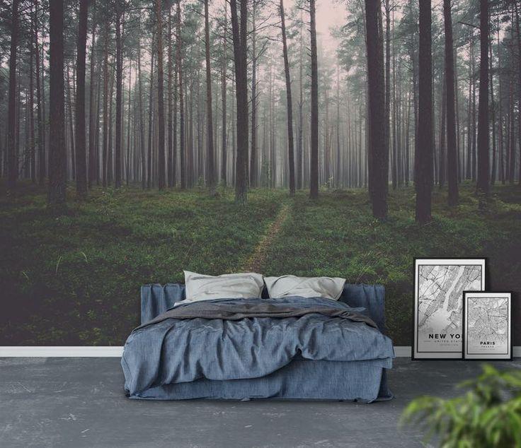 Mörk skog Tapet