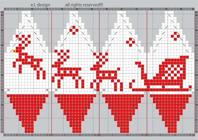Ravelry: julekuler - reindeer sleigh pattern by Eva Lyus #knitted_balls