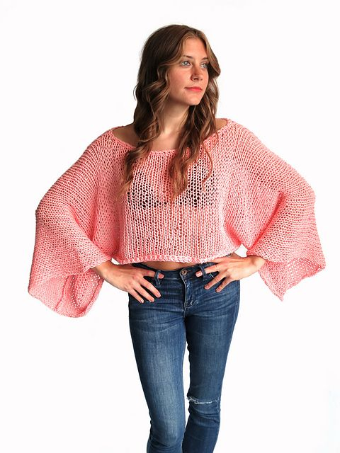 Ravelry: Yucatan Sweater // Loose Knit Summer Sweater Top Oversized Boho pattern by Alexandra Tavel