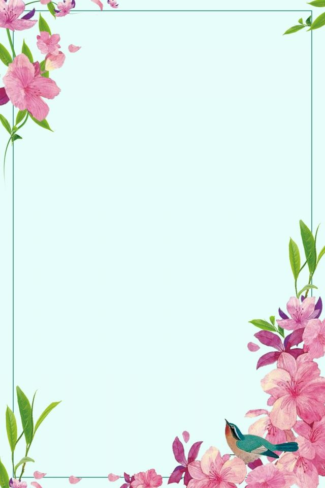 Flower Flower Border Simple Elegant In 2020 Vintage Flower