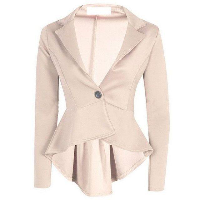 One Button Slim Casual Business Blazer Suit Jacket Coat Outwear ... 4bad34a2e