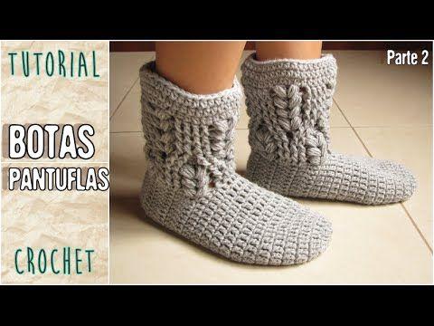 Cómo tejer Botas Pantuflas al Crochet para Todos los Talles / Video Tutorial | Todo crochet
