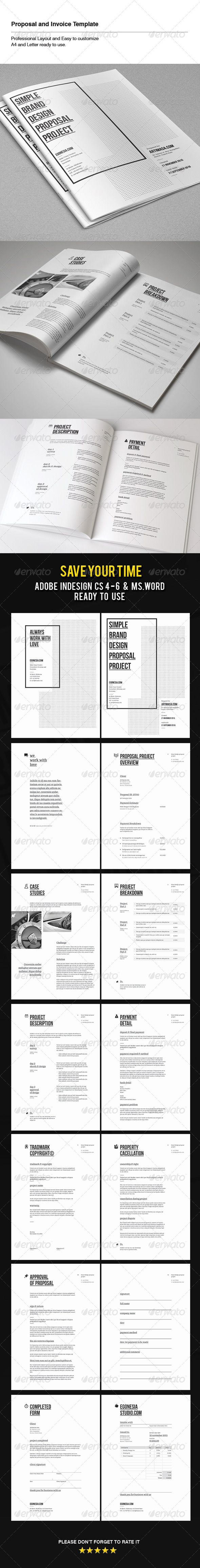 Proposal & Invoice Template - Proposals & Invoices Stationery