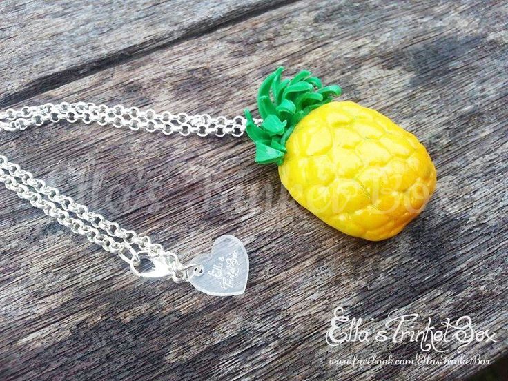 Handmade Pineapple Necklace by Ella's Trinket Box  Available at www.facebook.com/EllasTrinketBox