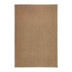 The rug is hard-wearing and durable because it's made of sisal, a natural fiber taken from the agave plant. Polyester edging makes the rug very durable and strong. Looks the same on both sides, so you can turn it over and it will withstand more wear and last longer. Ideal in your living room or under your dining table since the flat-woven surface makes it easy to pull out the chairs and vacuum.