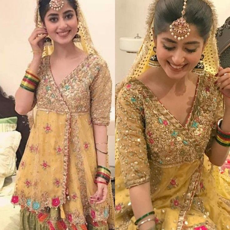 Latest Mehndi Party Dresses : Beautiful