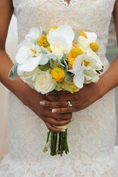 Flowers for the Bride ~ #elegant #orchid #bridal #bouquet #yellow #white