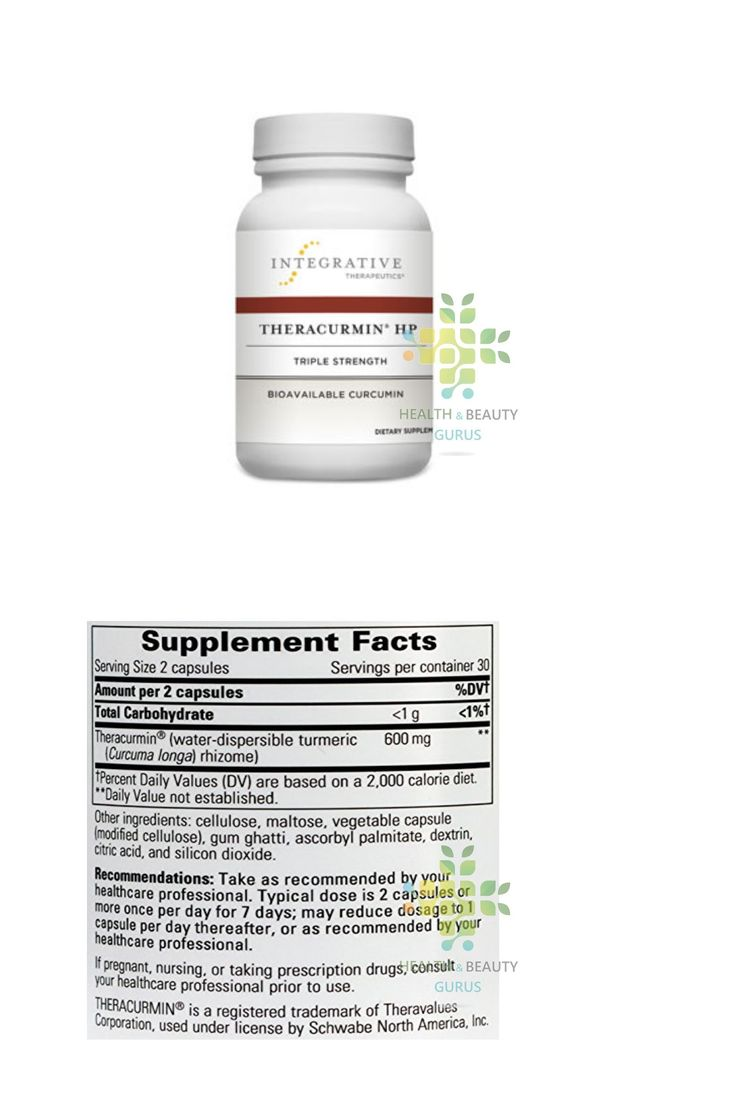 Dietary Supplements: Integrative Therapeutics Theracurmin Hp 60 Vegcaps BUY IT NOW ONLY: $51.95