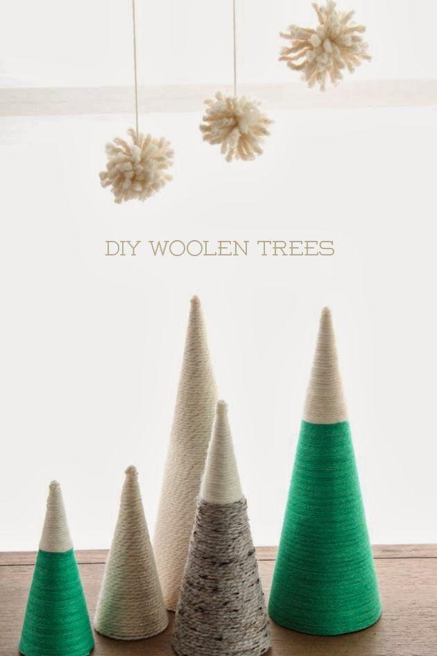 DIY Woolen Trees