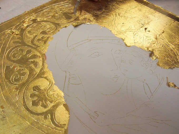 <b>CORSO AVANZATO DORATURA A GUAZZO 80 ORE</b> - brunitura (lucidatura) dell'oro con pietra d'agata