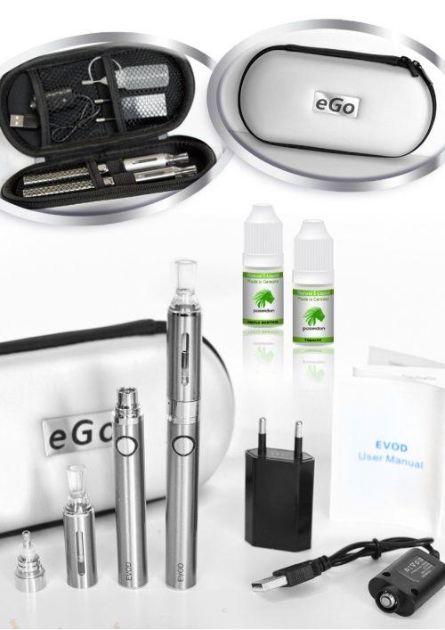 e-zigarette starterset,evod,doppelset,günstig,angebot,silver