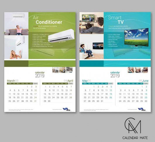 Pin by Calendar Mate on Wall Calendar Design 2019 Calendar design