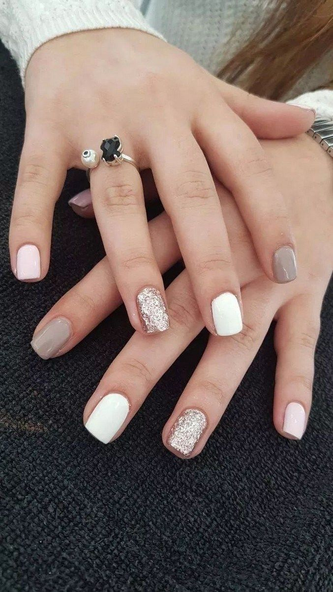 40 Trendy Stunning Manicure Ideas For Short Acrylic Nails Design 20 Short Acrylic Nails Designs Short Square Nails Nail Designs