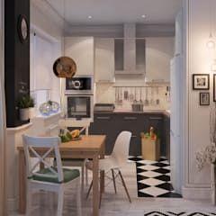 Интерьер в скандинавском стиле: Кухни в . Автор – Alyona Musina