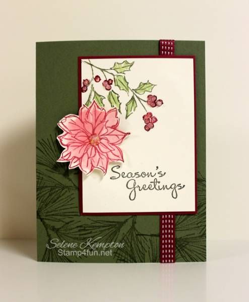 Watercolor Winter Stamp-A-Stack Card by StampingSelene - Cards and Paper Crafts at Splitcoaststampers