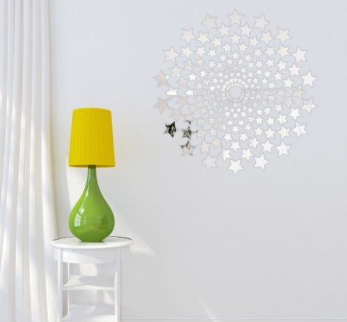 Dekorační zrcadla ve tvaru hvězdiček