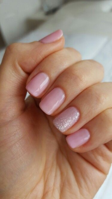 Sensationail UK Pink Chiffon with silver glitter accent