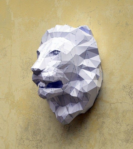 Make Your Own #Lion #Sculpture. #DIY de PlainPapyrus sur DaWanda.com