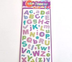 Gradient Alphabet Stickers fro R34/5 Sheets  | Paradise Creative Crafts