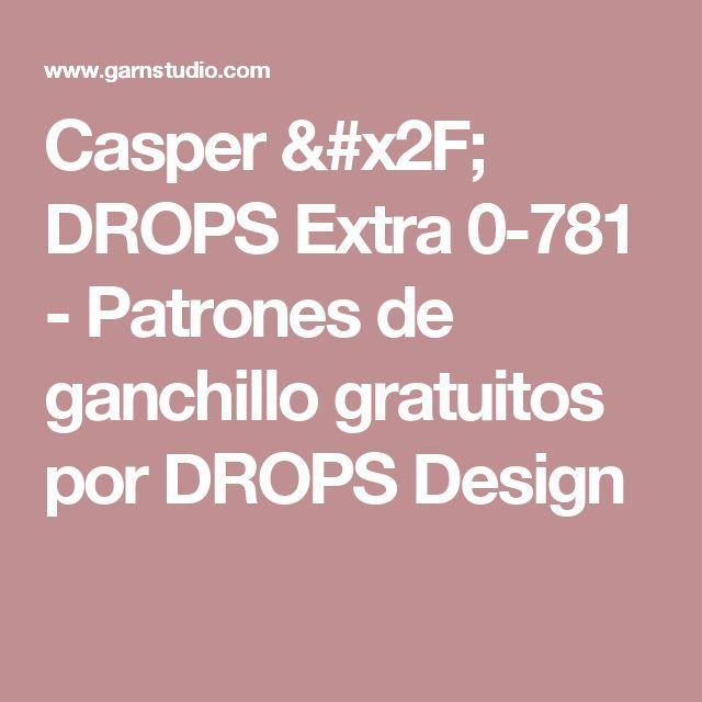 Casper / DROPS Extra 0-781 - Patrones de ganchillo gratuitos por DROPS Design