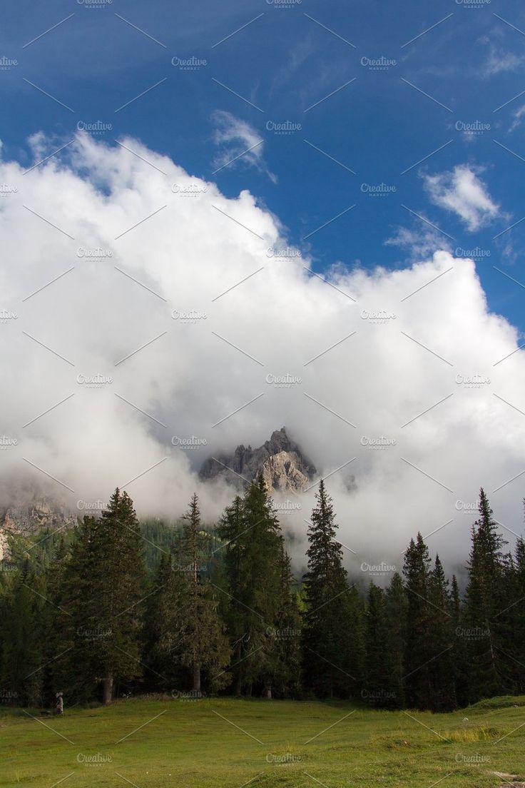 Peaceful , misty mountain landscape by An_cika on @creativemarket