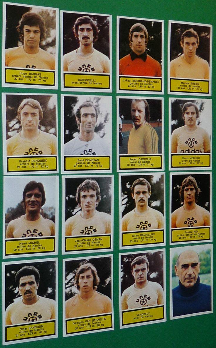 Ageducatifs Panini Football 1975 76 FC Nantes Complet Saupin Canaris FCN 75 1976 | eBay