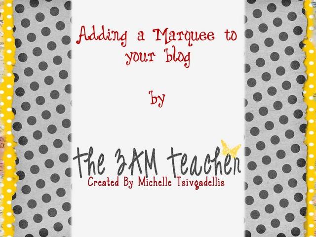 Create a Marquee (Blog Roll) Tutorial | The 3am Teacher