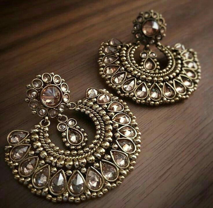 Costume Jewellery Hair & Head Jewellery Sunny Indian Bollywood Gold Plated Blue Kundan Meenakari Earring Women Wedding Jewelr Soft And Light