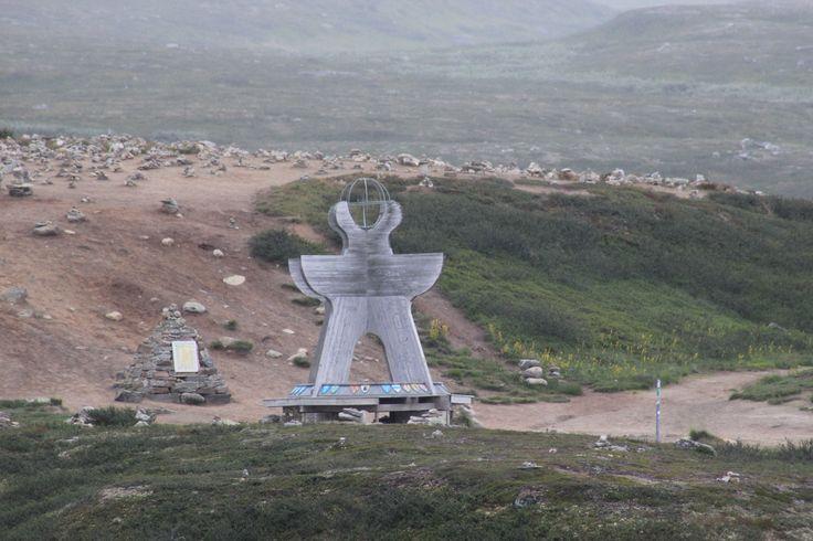 Nye Polarsirkel monumentet på Saltfjellet.