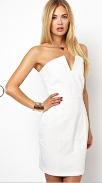 Notched Bandeau Dress, i have these type of dress and it never looses it touch on trend.