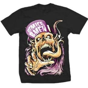 Official Of Mice & Men Flip Hat Demon shirt.