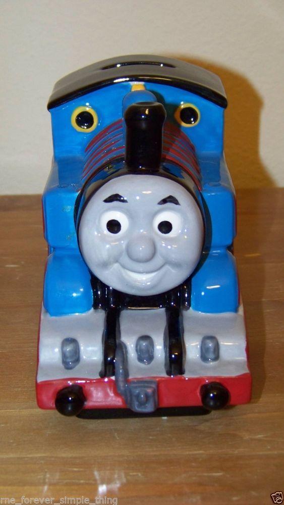 Thomas the tank train friends engine ceramic piggy bank - Train piggy banks ...