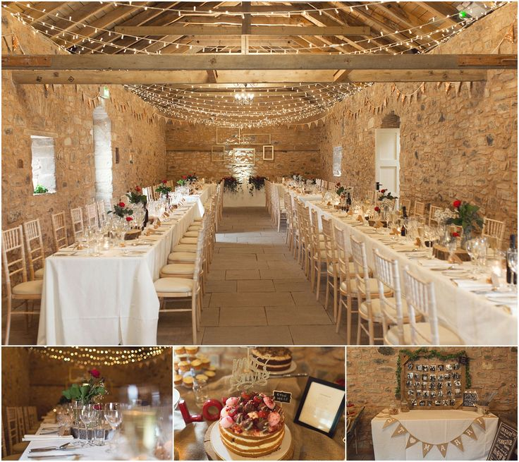 Elegant barn table settings - barn wedding - Wedderburn Barns