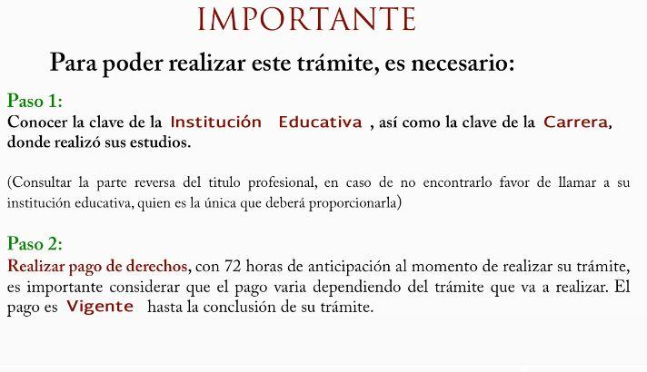 Secretaría de Educación Pública :: Registro de Título y Expedición de Cédula Profesional