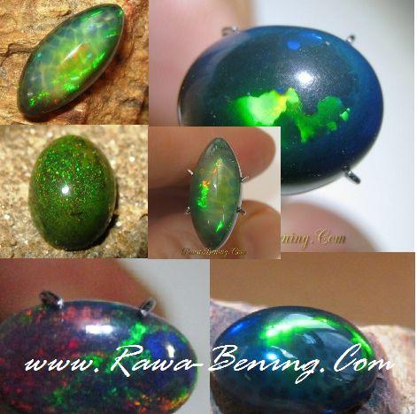Penjelasan tentang keindahan batu black opal, untuk pertimbangan para penggemar black opal di seluruh nusantara dalam membeli batu black opal asli.