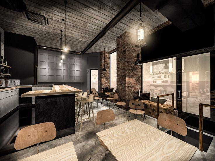 Finland's first American Craft Beer Bar (Tommyknocker). Designed by sisatila.fi