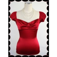 D'Amour Cap Sleeve Top (Red) - $99.00