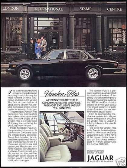Jaguar Vanden Plas Car London Stamp Centre (1986) — Ad I art directed