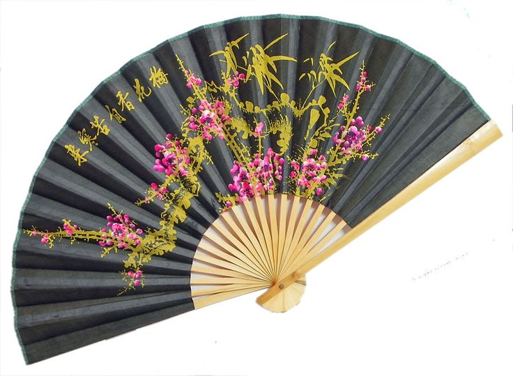 Beauty In The Dark Wall Hanging Fan Bamboo And Silk
