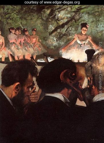 Musicians in the Orchestr - Edgar Degas - www.edgar-degas.org