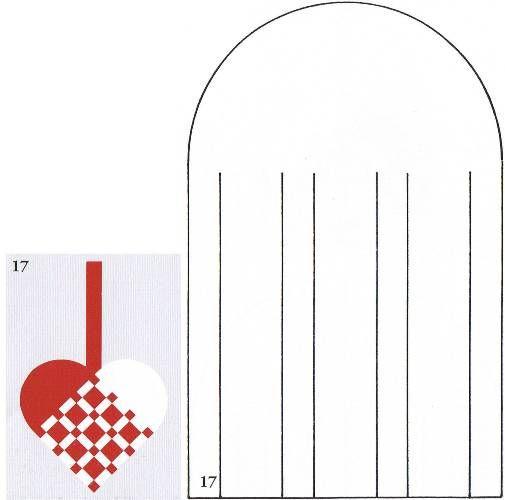 Woven Paper Heart Cutting PATTERN  2
